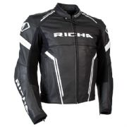 Richa Monza Leather Jacket Black/White